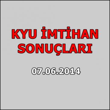 Kyu İmtihan Sonuçları – 7 Haziran 2014