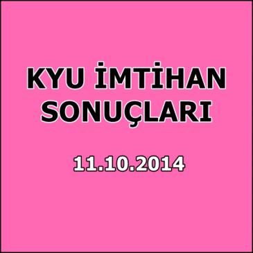 Kyu İmtihan Sonuçları – 11 Ekim 2014