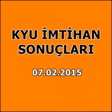 Kyu İmtihan Sonuçları – 7 Şubat 2015