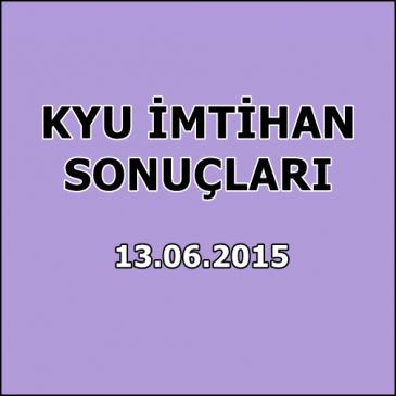 Kyu İmtihan Sonuçları – 13 Haziran 2015