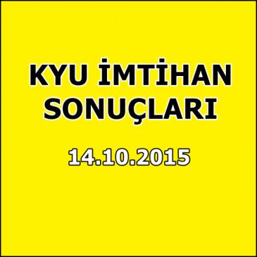 Kyu İmtihan Sonuçları – 14 Ekim 2015