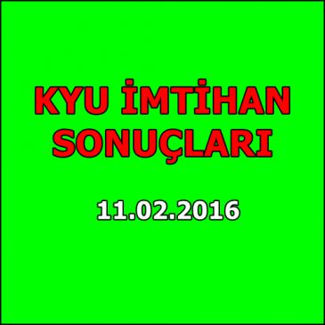 Kyu İmtihan Sonuçları – 11 Şubat 2016
