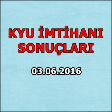 Kyu İmtihan Sonuçları – 03.06.2016