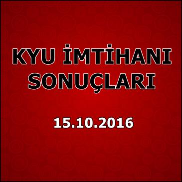 Kyu İmtihan Sonuçları – 15 Ekim 2016