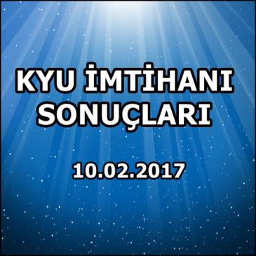 Kyu İmtihan Sonuçları – 10 Şubat 2017