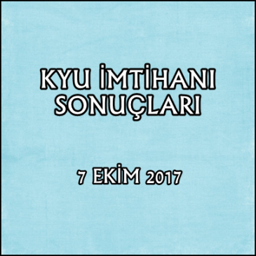 87.Kyu İmtihan Sonuçları – 7 Ekim 2017