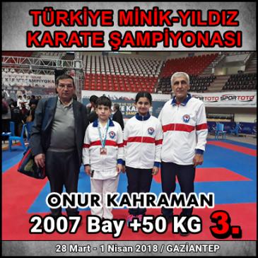 TÜRKİYE MİNİK-YILDIZ KARATE ŞAMPİYONASI-GAZİANTEP